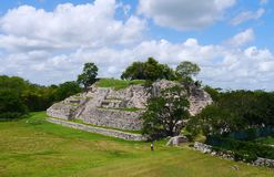 Cultura maia México Iucatão de Pyramide das ruínas de Ake fotografia de stock