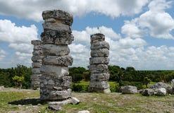 Cultura maia México Iucatão de Pyramide das ruínas de Ake imagem de stock