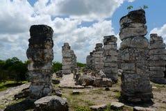 Cultura maia México Iucatão de Pyramide das ruínas de Ake imagem de stock royalty free