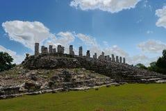 Cultura maia México Iucatão de Pyramide das ruínas de Ake imagens de stock royalty free