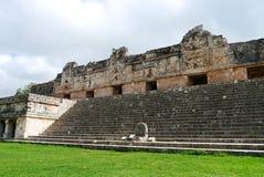 Cultura maia México Iucatão de Pyramide das ruínas de Uxmal Fotos de Stock Royalty Free