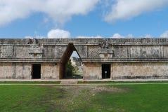 Cultura maia México Iucatão de Pyramide das ruínas de Uxmal Imagem de Stock Royalty Free