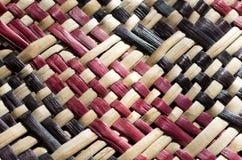 Cultura maori - linho tecido imagem de stock