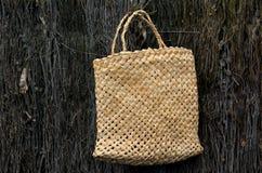 Cultura maori tradicional tecida do saco do linho Fotografia de Stock
