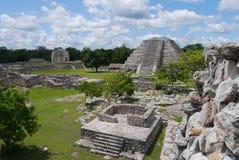 Cultura maya México de Pyramide de las ruinas mayapan Imagen de archivo