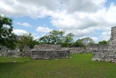 Cultura maya México de Pyramide de las ruinas mayapan Foto de archivo