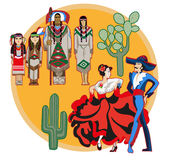 Cultura mexicana imagens de stock royalty free