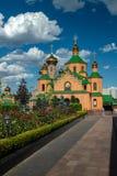 Cultura para hombre del cristianismo de la religión de Ucrania Kiev del monasterio de Holosiivskyi imagenes de archivo
