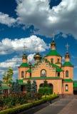 Cultura para hombre del cristianismo de la religión de Ucrania Kiev del monasterio de Holosiivskyi fotografía de archivo