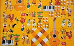 Cultura portuguesa nos azulejos imagem de stock royalty free