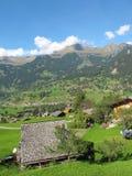 Cultura suiza con la cabaña en Jungefrau Imagen de archivo libre de regalías