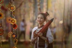 Cultura tailandesa da identidade do vestido de Tailândia ilustração royalty free