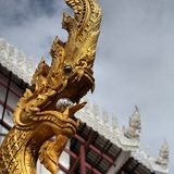 cultura tailandesa de Ásia do wat da estátua imagem de stock royalty free