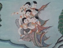cultura tailandesa no velho fotografia de stock royalty free