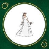 Cultura turca para o círculo à noiva branca Imagens de Stock