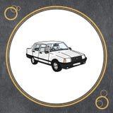Cultura turca para o círculo ao carro branco Fotos de Stock