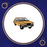 Cultura turca para que o círculo amarele o carro Imagens de Stock
