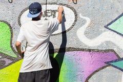 Cultura urbana Arte de la calle Proceso de la pintada Imágenes de archivo libres de regalías