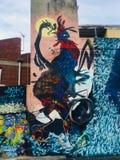 Cultura urbana Hobart Tasmania da habilidade da juventude do sumário dos grafittis da arte da rua imagem de stock
