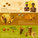 Cultura y tradiciones africanas de África de las banderas ilustración del vector