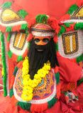 Cultural artform. It is a cultural artform known as theyyam .found in india Royalty Free Stock Photo