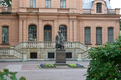 Monument to PF Lesgaft. St. Petersburg. royalty free stock photography