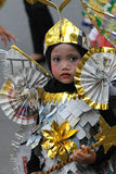 Cultural carnival. Children are following cultural carnival at a village in the city of Solo, Central Java, Indonesia Stock Photography