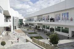 Cultural Center. Wide angle view of the university cultural center in the city of Puebla Stock Images