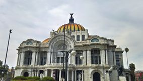 The cultural centre in Mexico city. Aka the palacio de bellas artes stock image