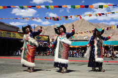Cultural dance at Ladakh festival Royalty Free Stock Image