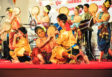 The cultural drum dance show Royalty Free Stock Photography