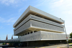Cultural Education Center, Albany, NY, USA. Cultural Education Center is a Brutalist style building completed in 1961 on the south side of Empire State Plaza in royalty free stock photo