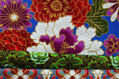 Cultural fabric pattern of  Thailand. Royalty Free Stock Photo