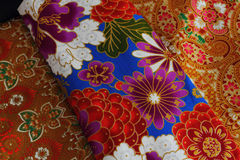 Cultural fabric pattern of  Thailand. Stock Photo