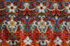 Cultural fabric pattern of  Thailand. Royalty Free Stock Images