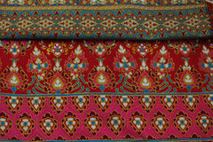 Cultural fabric pattern of  Thailand. Stock Photos