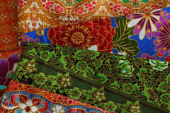 Cultural fabric pattern of  Thailand. Royalty Free Stock Photos