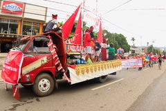 Cultural Festival Manokwari 2017. Decorated car from South Sulawesi on a parade. First ever Art and Cultural Festival in Manokwari, West Papua, Indonesia. 6 Royalty Free Stock Images