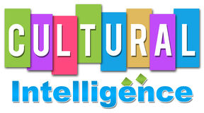 Cultural Intelligence Colourful. Text Cultural Intelligence written on colourful and professional style stock illustration