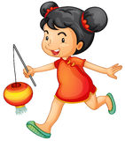Cultural kid. Illustration of a cute chinese girl stock illustration