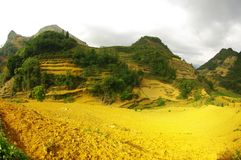 Cultural Landscape In The Mountains Royalty Free Stock Photo