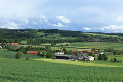 Cultural Landscape of Werratal Germany Stock Image