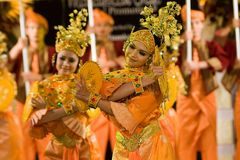 Cultural Malay Dancers Stock Photos
