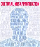 Cultural Misappropriation Word Cloud. On a white background royalty free illustration