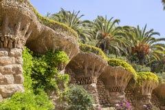 Cultural monument of creativity of Antoni Gaudi. Royalty Free Stock Images