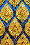 Cultural pattern of Thailand. In the temple Stock Photos