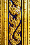 Cultural pattern of Thailand. In the temple Royalty Free Stock Photography
