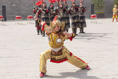Traditional dance, cultural performance of warriors, China Stock Photos