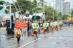 Cultural promotion parade marching in International Fleet Review