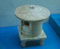 Cultural relics - talc granary. In 200 AD, during the eastern han dynasty unearthed cultural relics - four foot pedestal talc granary. Beautifully made granary Royalty Free Stock Photography